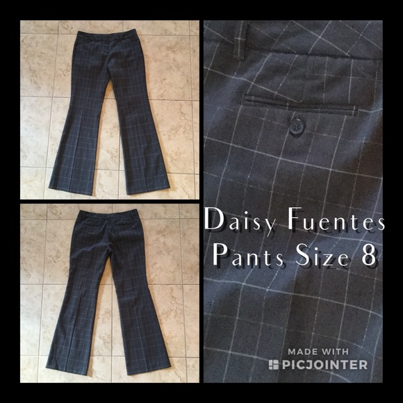 Clothing, Shoes & Accessories Daisy Fuentes Pant Women Size 18w Charcoal Gray Dress Flat Front 5 Pocket Pants